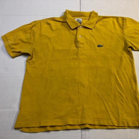 Lacoste Shirts Mens Yellow Ss Polo Alligator Logo Shirt Poshmark